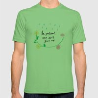 Motivational thoughts Mens Fitted Tee Grass SMALL