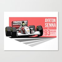 Ayrton Senna - 1993 Adel… Canvas Print