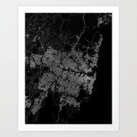 Sydney Map Australia Art Print