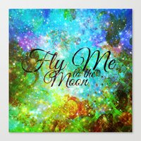 FLY ME TO THE MOON, REVI… Canvas Print