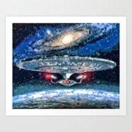 Star Trek Enterprise D Art Print