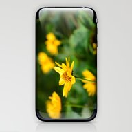 iPhone & iPod Skin featuring Hello Yellow by DuniStudioDesign