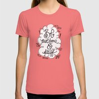 BE AWESOME & STUFF Womens Fitted Tee Pomegranate SMALL