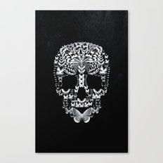 Cranium Butterflies B&W Option Canvas Print