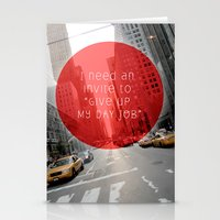 give up my day job Stationery Cards