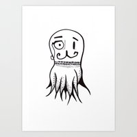 Squid Sketch Art Print