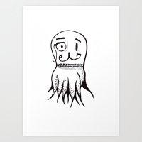 Squid Sketch Art Print