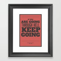 'If You Are Going Throug… Framed Art Print