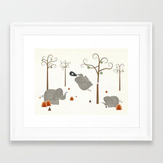 Elephants shouldn't climb trees. Framed Art Print