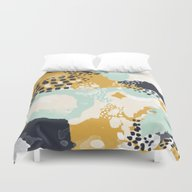 Tinsley - Abstract Paint… Duvet Cover