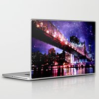 new york Laptop & iPad Skins featuring New York New York by WhimsyRomance&Fun