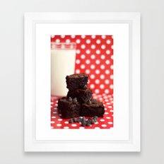 Brownies and Milk Framed Art Print