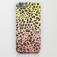 CORAL & YELLOW LEOPARD iPhone 6 Slim Case