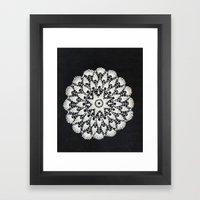 beige black lace Framed Art Print