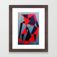 Red and Black Framed Art Print