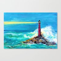 Lighthouse Abstract Painting Canvas Print