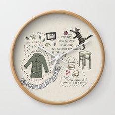 Monday Nineteeth November Wall Clock