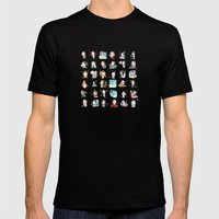 Moonsia` Mens Fitted Tee Black SMALL