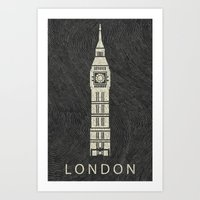 london Art Prints featuring London by NJ-Illustrations