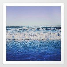 Indigo Waves Art Print