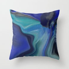 ANGEL OPENING HER WINGS TO YOU Throw Pillow