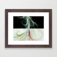 Lightning Dance Framed Art Print