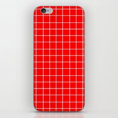 Grid (White/Red) iPhone & iPod Skin