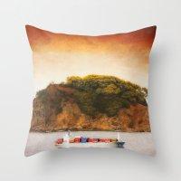 Tropical Cargo Throw Pillow