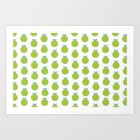 Green Appels Art Print