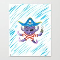 Pirate Octopus Canvas Print