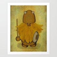 Hirsute Viking Homunculu… Art Print