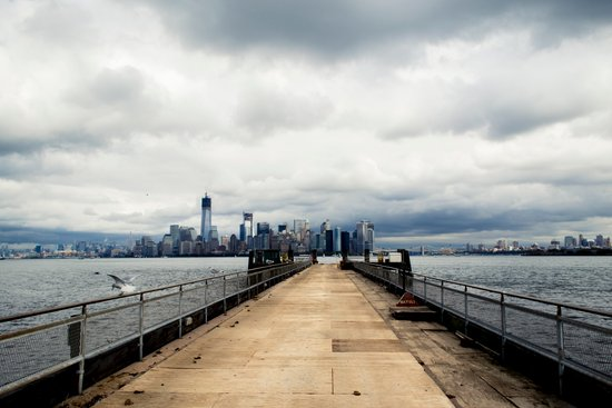 View from Liberty Island Pier Art Print