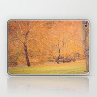 Autumn Landscape -- Trees By The River Laptop & iPad Skin