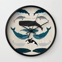 Whales - Pod Of Whales P… Wall Clock