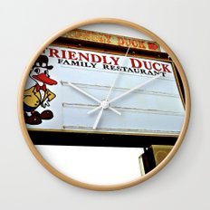 Friendly Duck Wall Clock