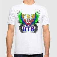 Fly Till I Die Mens Fitted Tee Ash Grey SMALL