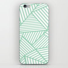 Abstract Lines Close Up Mint iPhone & iPod Skin