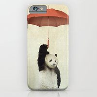 orange iPhone & iPod Cases featuring Pandachute by vin zzep