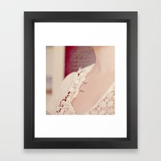 Written on her Skin Framed Art Print