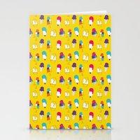Ice cream pattern - light blue Stationery Cards