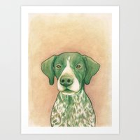 Pointer Dog - Jola 02 Art Print