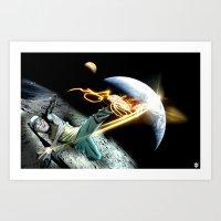 Intergalactic BBOY Art Print
