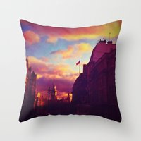 London Sunset Throw Pillow
