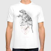 Partial Fractions Mens Fitted Tee White SMALL