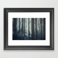 Glass Light Forest Framed Art Print
