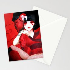 Kimiko the Geisha in Red Stationery Cards