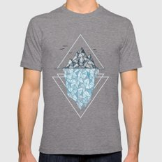 Iceberg Mens Fitted Tee Tri-Grey SMALL