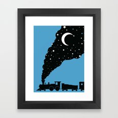 the night train Framed Art Print