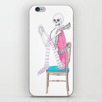 circus skeleton iPhone & iPod Skin