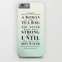 iPhone & iPod Case featuring Strong Tea by Megan Matsuoka
